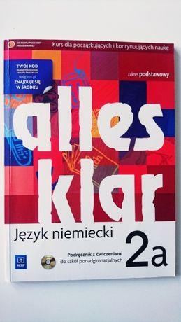 Alles klar 2a język niemiecki podręcznik z ćwiczeniami + płyta