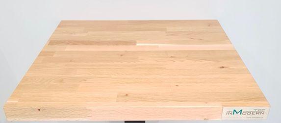 Blat dębowy klejonka 120 x80 cm gr. 40 mm lakierowany PRODUCENT