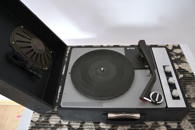 UNITRA kolekcjonerski gramofon adapter PRL z głośnikiem WG 550