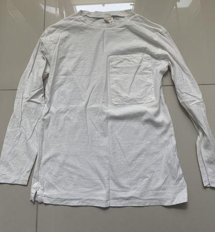 Bluzka ZARA długi rękaw rozmiar 134/140 biała