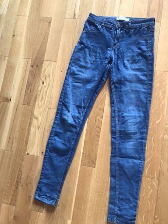 Spodnie jeansowe damskie dziewczece r 36 Bershka tania wysylka olx