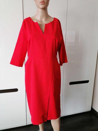 Kobieca Elegancka sukienka. Jak nowa. Czerwona. L/40.wizytowa.