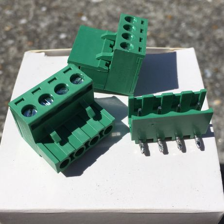 Pack de 10 Conector (macho e fêmea) 4 pinos 5,08mm