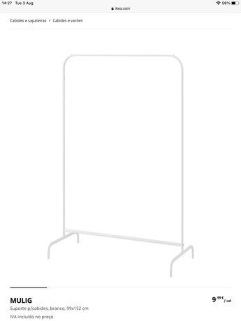 Roupeiro aberto / Suporte para cabides IKEA Mulig