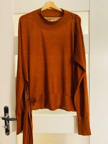 Isabel Marant Etoile L Bluzka lniana w kolorze karmelowym