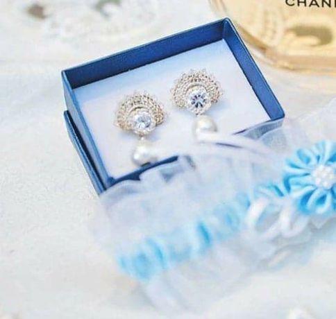 Kolczyki ślubne handmade