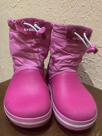Зимние сапоги Crocs для девочки