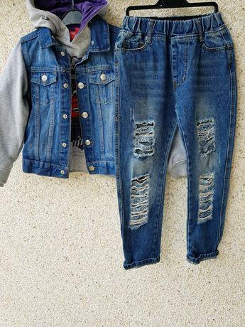 Костюм,комплект:джинсы,джинсовка,худи