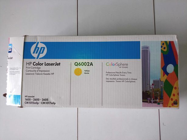 HP Toner Q6002A Amarelo (novo/ selado)