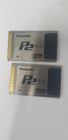 Карты памяти panasonic p2 64gb  e series