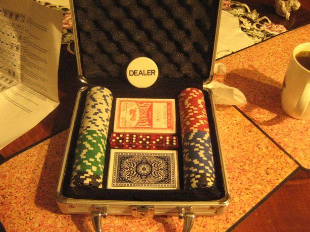 Gra w kości- kasyno Dealer w walizeczce