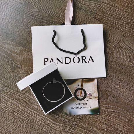 Srebrna bransoletka Pandora  korona rozm 18