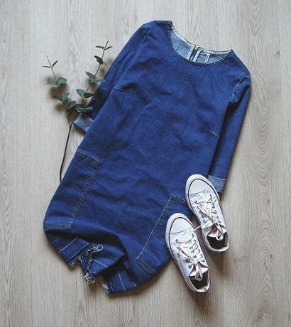 Джинсовое платье stradivarius,s/36