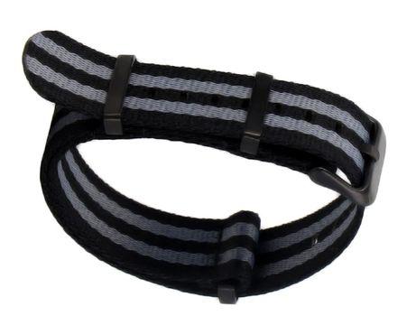 Pasek do zegarka NATO Exclusive Black 20, 22mm różne wzory