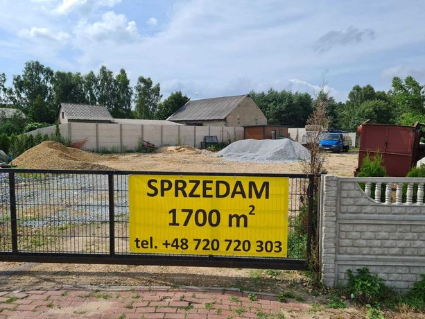 Działka 1700 m2 gm. Działoszyn Kiedosy Szczepany /Draby