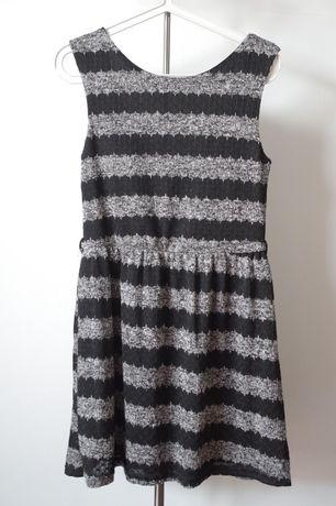 Nowa sukienka Atmosphere L w paski szara czarna