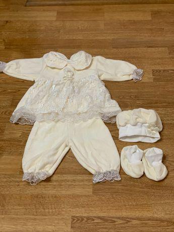 Нарядный костюм комплект , набор для крещения , праздника