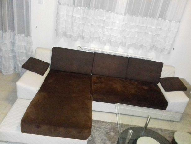 Narożnik z funkcją spania + fotel