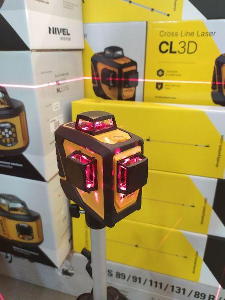 Laser Krzyżowy 360° CZERWONY CL3D Nivel System Niwelator Poziomica