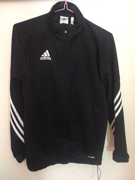 Czarna zapinana bluza Adidas uniseks