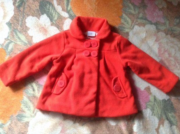 Продам флісове пальто-жакет Next на вік 1,5-2 роки (92 см)