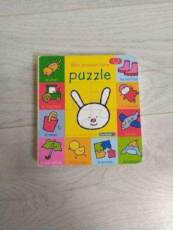 Książka puzzle francuskim po francusku Mon premier livre french editio