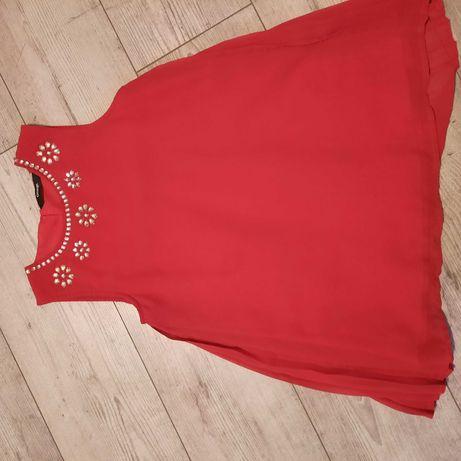George sukienka plisy, czerwona 10-11 lat