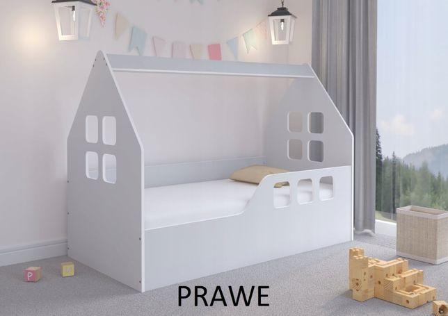 Łóżko dziecięce DOMEK KOLOR SZARY 160x80 + materac