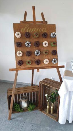 Tablica na donuty wesele impreza słodki stół