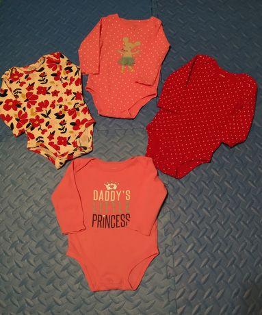 Набор бодиков на девочку 9 месяцев