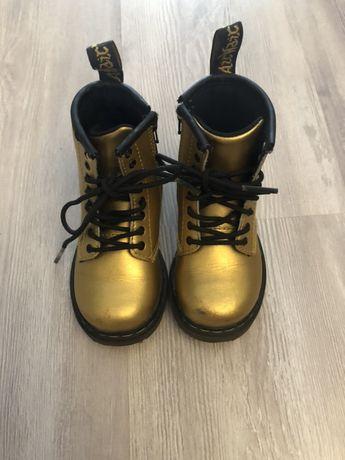 Botki buty dr. Martens złote dziecięce
