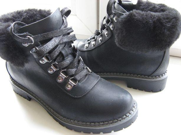 Ботинки Next p38(24.5см),нат.кожа,новые