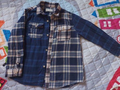 Рубашка байковая, рубашка zara, next, george, утепленная рубашка next