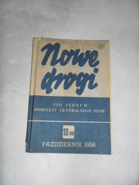książka czasopismo społecznopolityczne Nowe Drogi 1956 rok PZPR