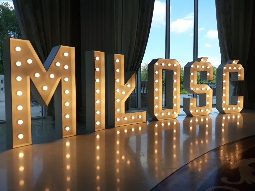Wynajmę podświetlany napis MIŁOŚĆ LOVE 40 napis LED wesele urodziny