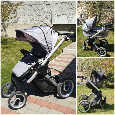 Mutsy Evo szary zestaw wózek gondola spacerówka fotelik adaptery Maxi