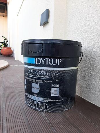 Tinta Dyrup dyruplast,15 litros, texturada branca,nova.