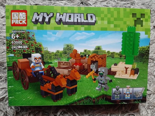 Duzy zestaw prezent swieta Minecraft My World 242 elementy