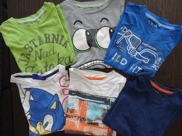 Koszulki z krótkim rękawem CoolClub, 5.10.15 - roz 128 - 6 sztuk