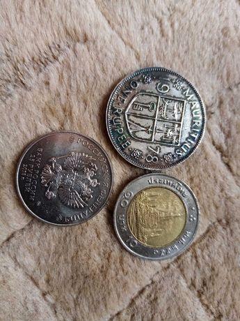 Lote de 3 moedas