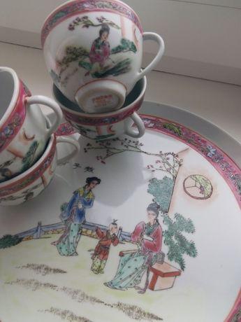 Китайский чайный сервиз 50е Ручная роспись