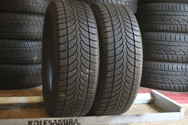 205/55 R16 Bridgestone, 7,5 мм, шины зима, 2 шт (195/215/50/60)