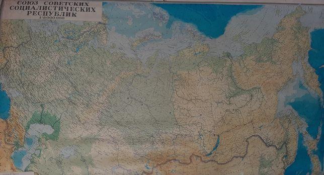 Карта ссср, 1980г