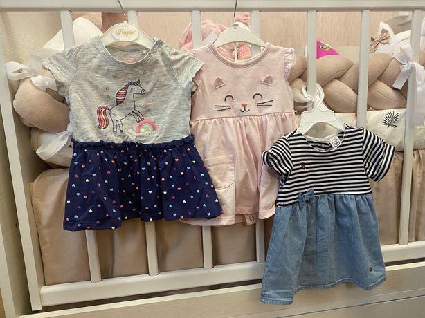 Платья на девочку 3-6 месяцев