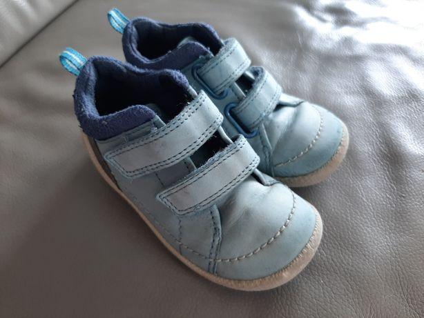 Skorzane buty buciki polbuty ecco biom lite infants 23 rzepy skora nat