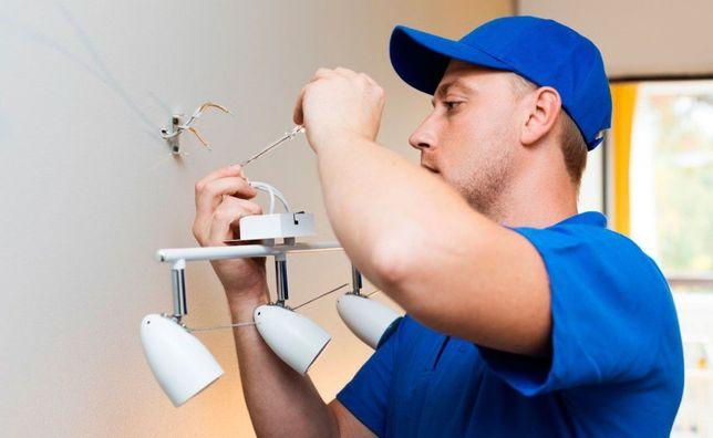 Установка бытовой техники, светильников, ремонт электрики, люстр