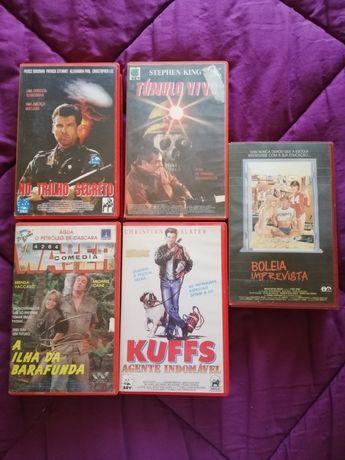 Conjunto de cassetes de vídeo