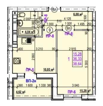 Самая хорошая цена! ЖК Валентиновская, 1 комн квартира, 39 м2! MY