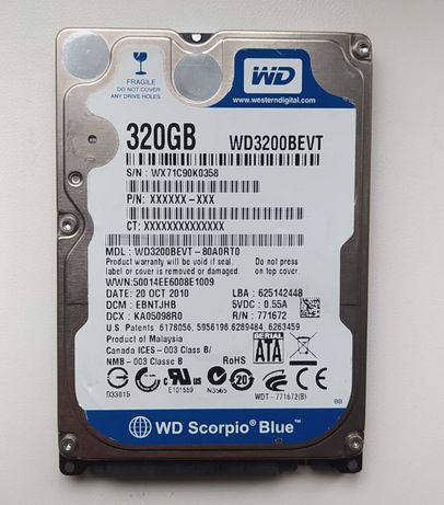 Western Digital Scorpio Blue 320 Гб WD3200BEVT