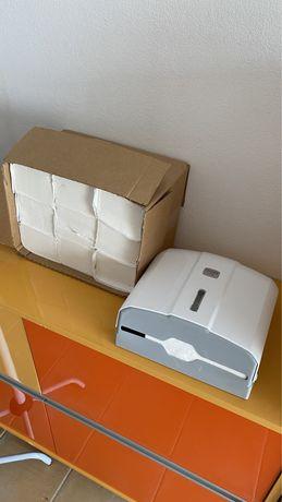 Dispensador de papel de maos + massos de recarga